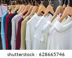 colorful women's clothes... | Shutterstock . vector #628665746