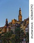 menton old town under sunlight | Shutterstock . vector #628669292