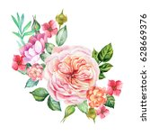 watercolor roses bouquet | Shutterstock . vector #628669376