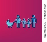 family sign illustration.... | Shutterstock .eps vector #628681502