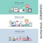 banner of medicalcare | Shutterstock .eps vector #628689692