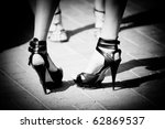 Women Shoes In Black And White...