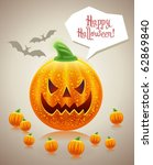 halloween smile | Shutterstock .eps vector #62869840
