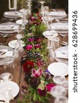 luxury table for a wedding...   Shutterstock . vector #628699436