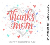 happy mothers day typography... | Shutterstock .eps vector #628706192