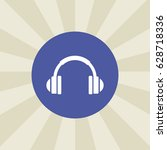 headphone icon. sign design....