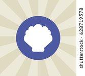 sea shell icon. sign design.... | Shutterstock .eps vector #628719578