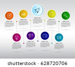 infographics nine options with... | Shutterstock .eps vector #628720706