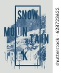 photo mountain illustration ... | Shutterstock . vector #628723622