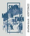 photo mountain illustration ... | Shutterstock . vector #628723622