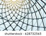 structural glass facade curving ...   Shutterstock . vector #628732565