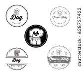 dog boutique | Shutterstock .eps vector #628737422