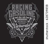 racing gasoline motorcycle...   Shutterstock .eps vector #628739858
