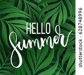 hello summer vector...   Shutterstock .eps vector #628748996