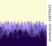 twilight spruce forest trees... | Shutterstock .eps vector #628750652