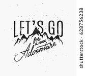 vintage style hand lettering.... | Shutterstock .eps vector #628756238