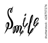 smile black inspirational hand... | Shutterstock .eps vector #628757276