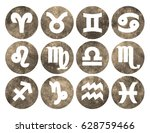 horoscope set  leo  virgo ... | Shutterstock .eps vector #628759466