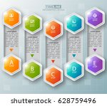 vector abstract 3d paper... | Shutterstock .eps vector #628759496