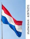 dutch flag against the blue sky | Shutterstock . vector #62876251