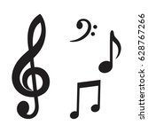 music note icon vector | Shutterstock .eps vector #628767266