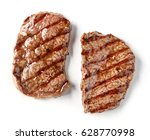 grilled beef steak isolated on... | Shutterstock . vector #628770998
