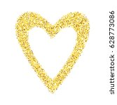 gold glitter heart isolated... | Shutterstock . vector #628773086