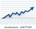 3d graph arrow blue high...   Shutterstock . vector #62877349