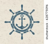 vintage marine label is ship's... | Shutterstock .eps vector #628775096