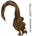 woman trendy long curly... | Shutterstock .eps vector #628777796
