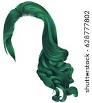 woman trendy long curly hairs... | Shutterstock .eps vector #628777802