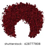 trendy curly  red hair.... | Shutterstock .eps vector #628777808