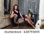 seductive woman 50 years old... | Shutterstock . vector #628793045