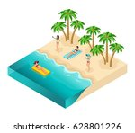 isometric people person  3d... | Shutterstock .eps vector #628801226