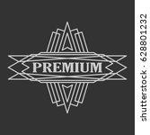 vintage badge. logo template.... | Shutterstock .eps vector #628801232