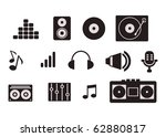 simple music icon set