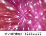abstract pink fractal... | Shutterstock . vector #628811132