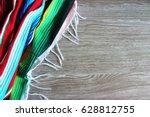 poncho serape background... | Shutterstock . vector #628812755