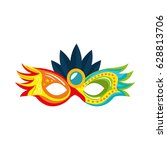 carnival mask isolated icon | Shutterstock .eps vector #628813706