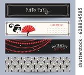 Retro Party Invitation Card In...