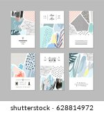 set of creative universal art... | Shutterstock .eps vector #628814972