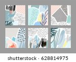 set of creative universal art... | Shutterstock .eps vector #628814975