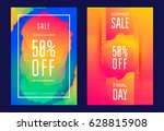 summer sale poster or flyer... | Shutterstock .eps vector #628815908