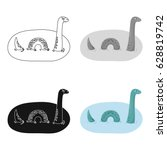 Stock vector loch ness monster icon in cartoon style isolated on white background scotland country symbol stock 628819742
