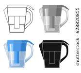 water jug with filter cartridge ... | Shutterstock .eps vector #628820855