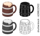 viking ale icon in cartoon... | Shutterstock .eps vector #628822502
