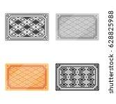 turkish carpet icon in cartoon... | Shutterstock .eps vector #628825988