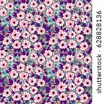 floral background with small... | Shutterstock .eps vector #628828136