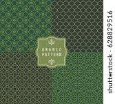 arabic seamless pattern.... | Shutterstock .eps vector #628829516