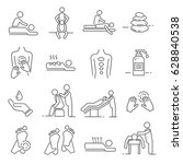 set of massage related vector... | Shutterstock .eps vector #628840538